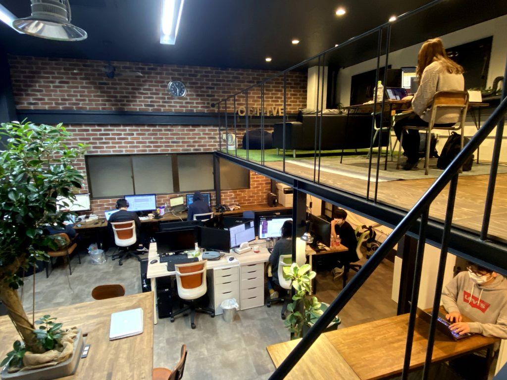 株シードライブのお洒落なオフィス風景